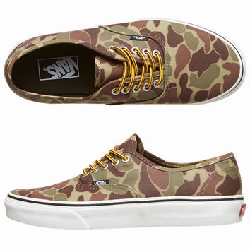 AUTHENTIC SHOES BY VANS IN WAXED CANVAS CAMO MARSHMALLOW