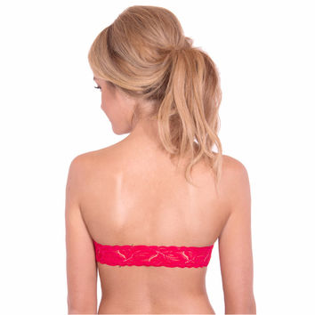 Saigon Red Lace Interchangeable Back Strap | The Bra Lab