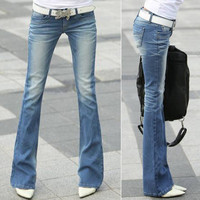Slim Bell Bottom Jeans
