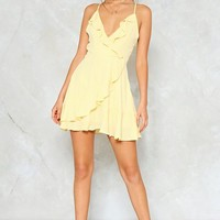 Picture This Ruffle Mini Dress