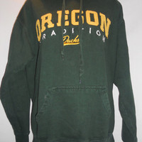 VIntage Oregon Ducks Tradition Sweatshirt Green Yellow