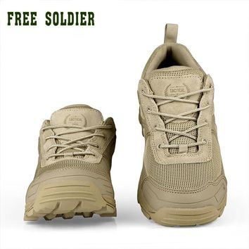FREE SOLDIER outdoor sports tactical military men shoes for camping climbing shoes  men boots mountain non-slip