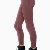 Cable Knit Sweater Legging
