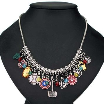 Multi-Fandom Charms Necklace
