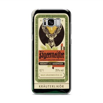 Jagermeister Retro Bottle Samsung Galaxy S8 | Galaxy S8 Plus case