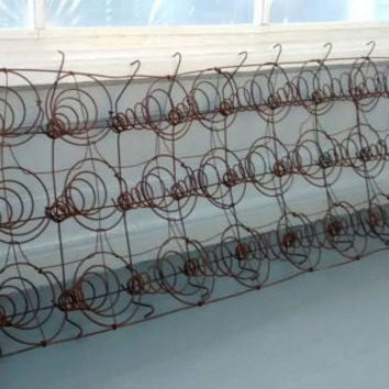 Antique, Bed of Springs, Upholstery Springs, Coil Springs, Tapered Springs, Industrial Decor, Upholstery Repair, DIY, Project, Mateials