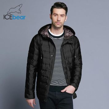 ICEbear new men's light coat fashion winter male's jacket high quality warm cotton clothes casual brand clothing MWD18899D
