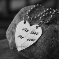 STERLING SILVER Sisters Forever Best Friends necklace set