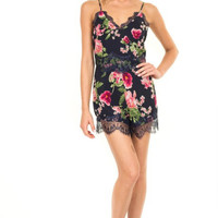 Sweet Sensation Lace and Floral Romper