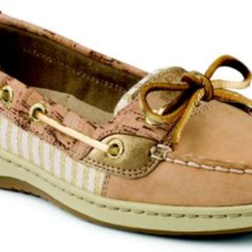Sperry Top-Sider Angelfish Cork Slip-On Boat Shoe Sand/GoldCork, Size 10M  Women's Shoes