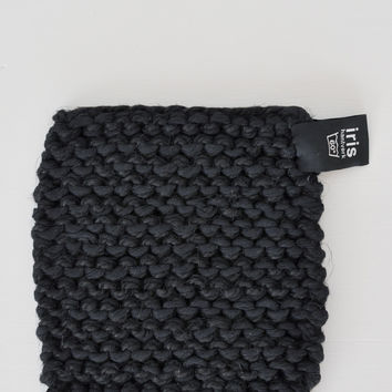Swedish Linen and Cotton Pot Holder - Black