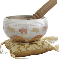 Singing Bowl with Tibetan Calendar