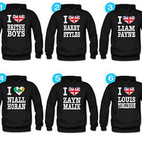 One Direction Hoodie Niall Zayn Liam Louis One Direction Boys hoodies british