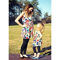 Lovefest Mommy and Me Floral Print Tunic Dress