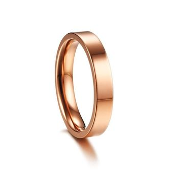 CAR7 4mm women ring have 3 color chioce single style have USA size 5 6 7 8 9 10 11 can be women lover day gift