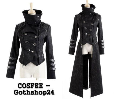 gothic punk rave herren jacke mantel from cosfee on ebay. Black Bedroom Furniture Sets. Home Design Ideas