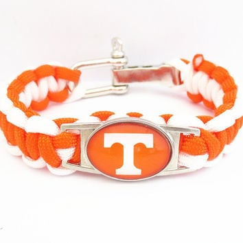 Tennessee Vols Paracord Football Sports Bracelet - 50% OFF Today
