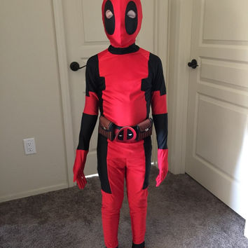 Children Deadpool Costume Halloween Costume for Kids Boys Party Cosplay Disfraces Carnival Toddler Clothing Set