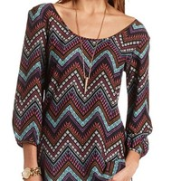 CHEVRON OPEN BACK TUNIC