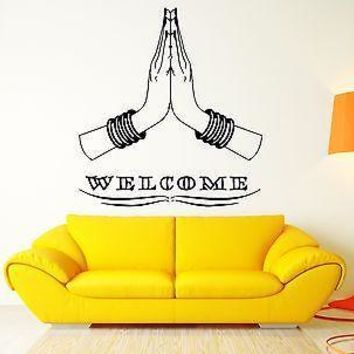 Welcome Cool Home Sweet Home Decor India Indian Hinduism For Living Room Unique Gift (z2573)