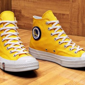 "... best service 31c6d 9b150 NBA x Converse Custom Chuck 1970S High Sneaker  ""Gold State Warri ... 67711383bf"
