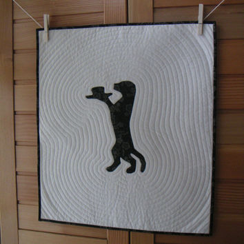Clever dog quilted wall hanging