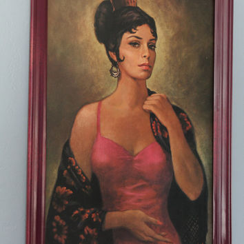1970's Vintage Perfect Latina Art