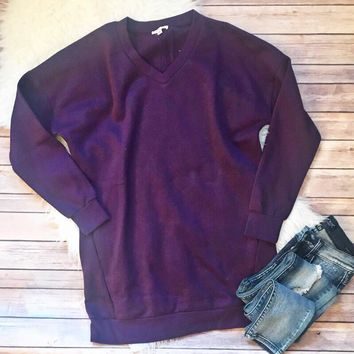 Purple Sweatshirt Tunic