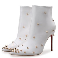 Christian Louboutin Women Fashion Casual Heels Shoes Boots-4