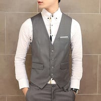 Four Buttons Men's Fashion Vest