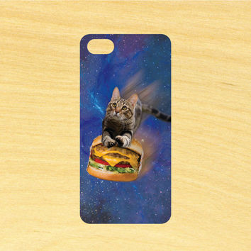 Flying Burger Cat in Space iPhone 4/4S 5/5C 6/6+ and Samsung Galaxy S3/S4/S5 Phone Case