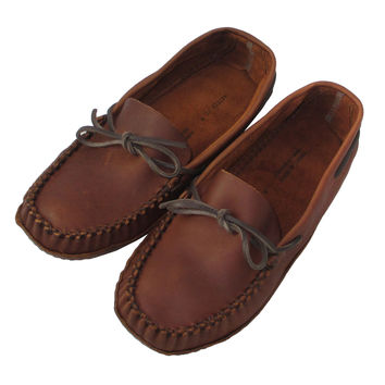 Men's WIDE Leather Soft-Sole Moccasins - 1461