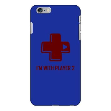 i'm with player 2 video game gamer computer geek nerd funny tee shirt iPhone 6/6s Plus Case
