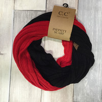CC Infinity Scarf - Red/Black