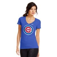 Under Armour Womens Chicago Cubs Charged Cotton Tri-Blend T