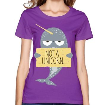 Narwhal Not A Unicorn Purple T-Shirt