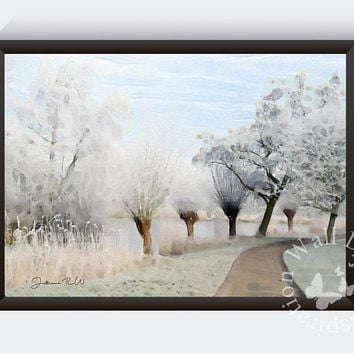 Winter wonderland | Painting | Baby is cold outside | Art Print | Home decor print | Inspiration | Printable |