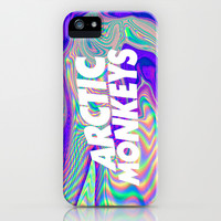 Psychedelic Arctic Monkeys Logo iPhone & iPod Case by julia