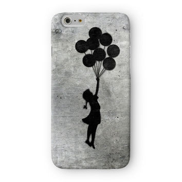 Banksy Balloon Girl Full Wrap 3D Printed Case  for Apple iPhone 6 by Banksy