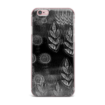 "Marianna Tankelevich ""Grey Dream"" Black Gray iPhone Case"