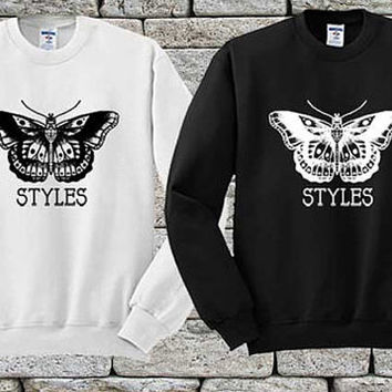 Harry Styles Tattoos Black White sweater Sweatshirt Crewneck Men or Women Unisex