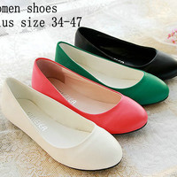 2014 Spring Round Toe Flat Heel Boat Shoes Gommini Loafers Sweet Flat Shoes For Women's Ballerina Flats Shoes