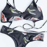 Cupshe I'll Take That Eagle Bikini Set