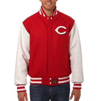 Cincinnati Reds Wool And Leather Varsity Jacket