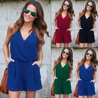 Womens Playsuit Summer Jumpsuit Romper