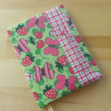 Composition Notebook Cover~ Butterflies and Strawberries ~ Makes a Great Gift ~ Shipping Included in the Price