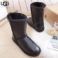 UGG New fashion fur boost shoes keep warm shoes women