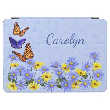 Pretty Butterflies and Daisies Spring Garden iPad Smart Cover