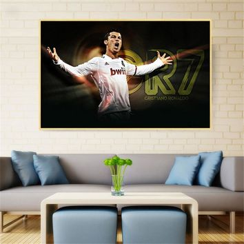 Canvas Painitng Sport Poster Prints Cristiano Ronaldo Real Madrid Football Wall Pictures for Living Room Kids Bedroom Decor