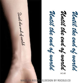 HC1086 Waterproof Temporary Tattoo Stickers Men And Women Sexy Arm Shoulder Personalized Letter Designs Tattoos Sticker Decals